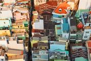 Suburbs of Ho Chi Minh City, Vietnam, Top View
