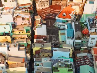 Suburbs of Ho Chi Minh City, Vietnam, Top View