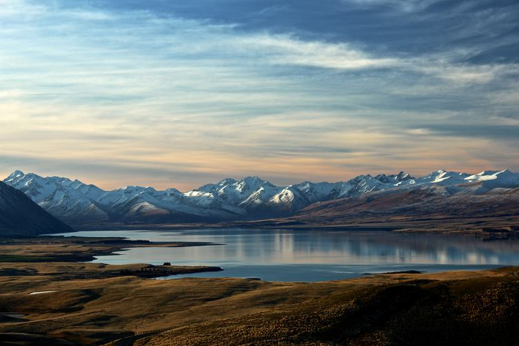 Panorama view of Tekapo Lake, New Zealand
