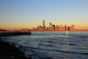 New York City, Sunset at Liberty Island, United States