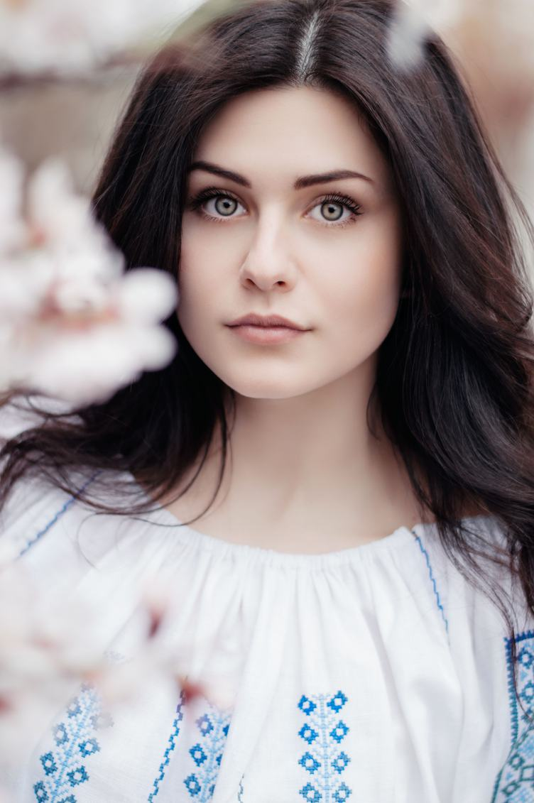 Portrait of Beautiful Young Brunette