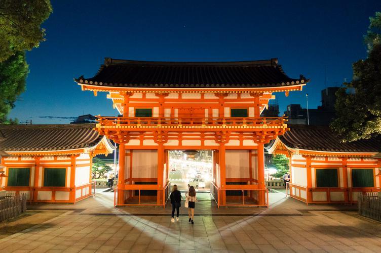 The Front Gate of Yasaka Shrine