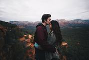 Kiss on the Forehead in the Mountains