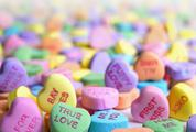 Colorful Harts Candies with Valentine's Day Inscriptions
