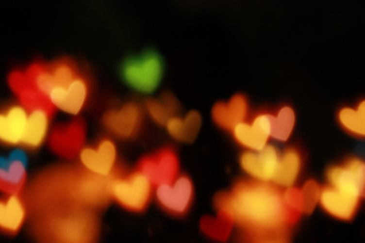 Valentine's Day Heart Bokeh Background