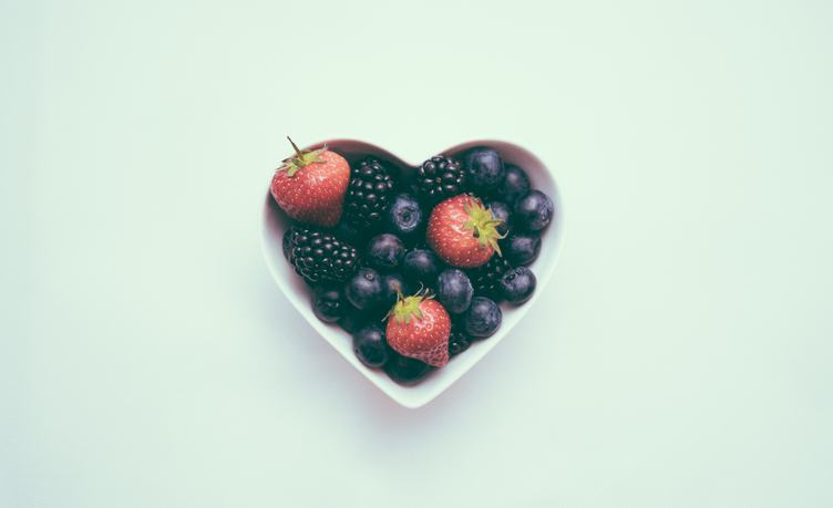 Heart Bowl with Fruits