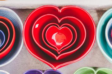 Colorful Ceramic Hearts