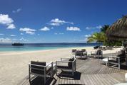 Panorama of Beach Ari Atoll, Maldives