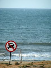 No Entry Sign on the Beach