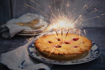 Tasty Cake with Sparks