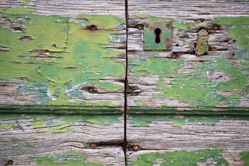 Close up of Old Flaky Wooden Door