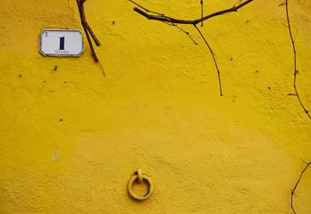 Yellow Wall on an Old Building Number One