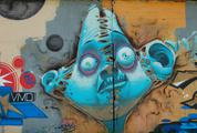 Blue Face Street Art