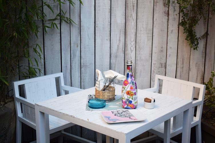 Empty Outdoor Restaurant Table