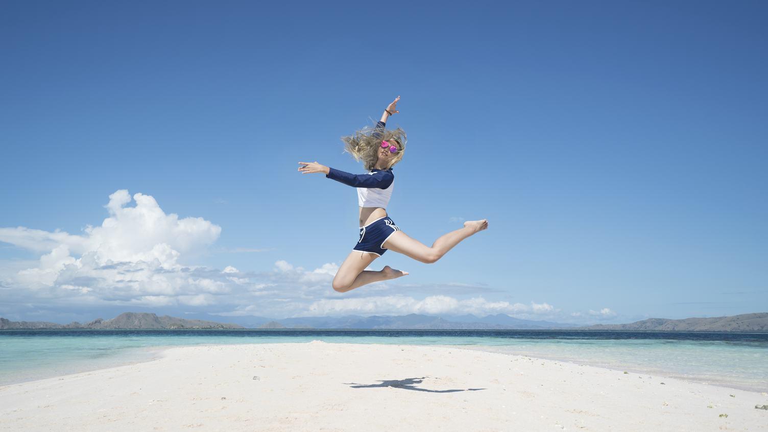 Girl above the Beach