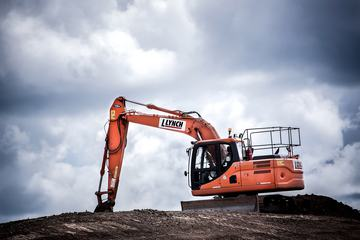Heavy Organge Excavator