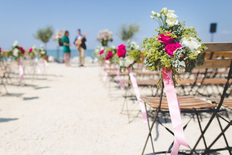 Free Photo Beautiful Wedding Decorations On Beach