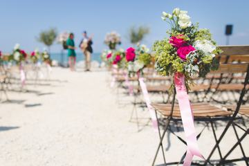 Beautiful Wedding Decorations on Beach