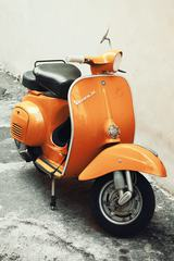 Orange Vespa Scooter