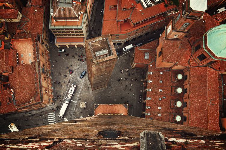 Towers of Bologna View from Above