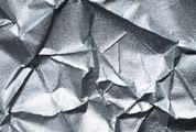 Silver Crumpled Paper Texture