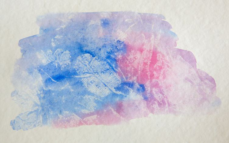Pink and Blue Watercolor Background