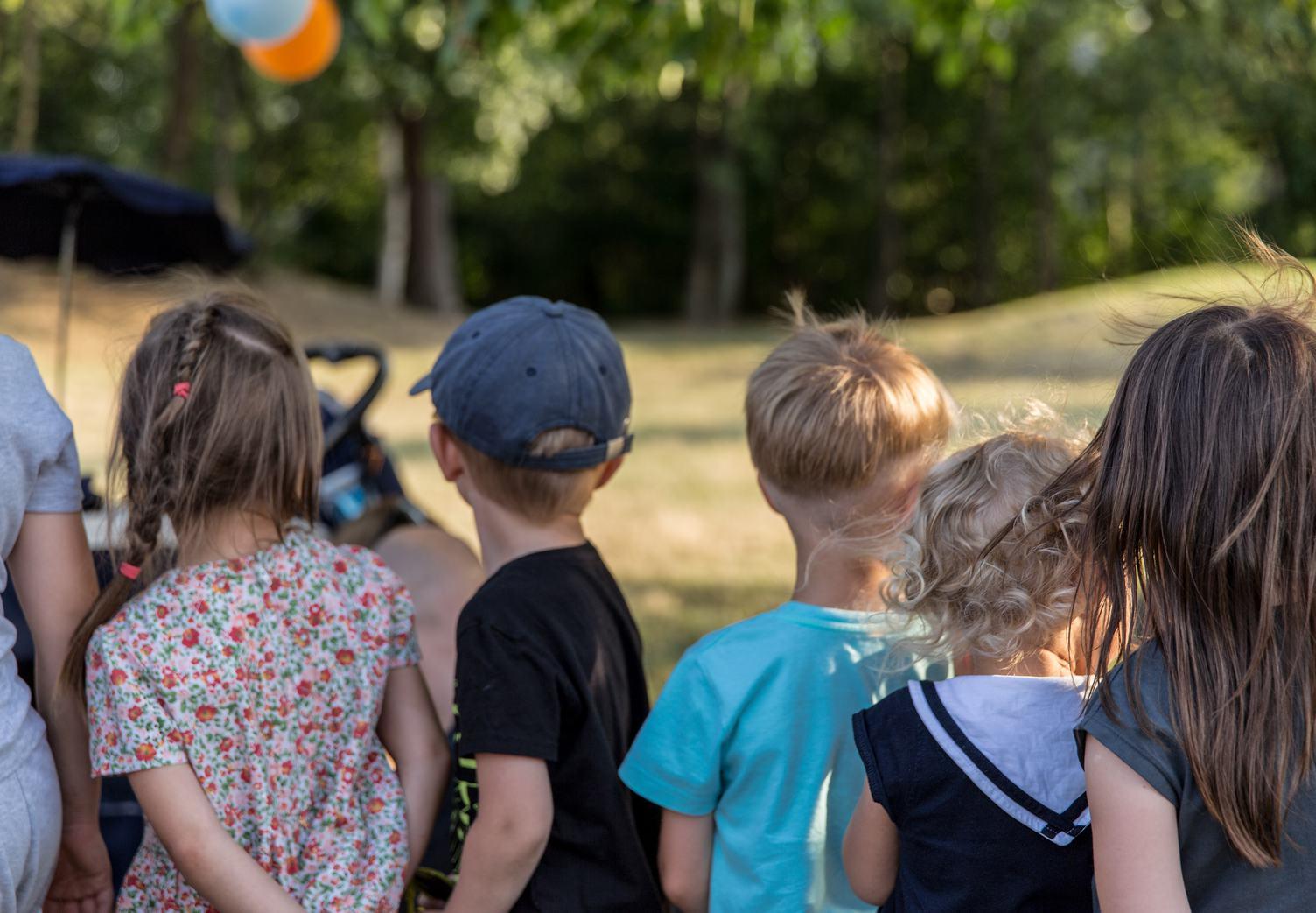 Children Standing Back