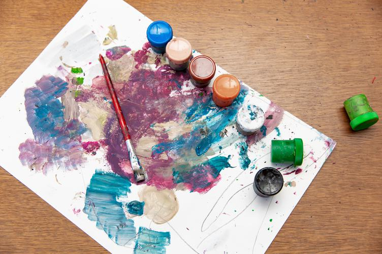 Abstract Children Painting