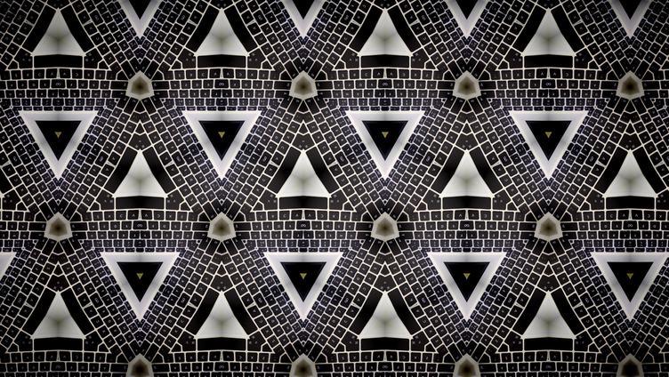 Kaleidoscope Keyboard Pattern