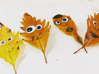 Leaves Faces - Super Easy Crafts for Children