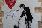 Crazy Dog Love Graffiti by Jae Ray Mie