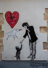 Crazy Dog Love Graffiti by Jae Ray Mie