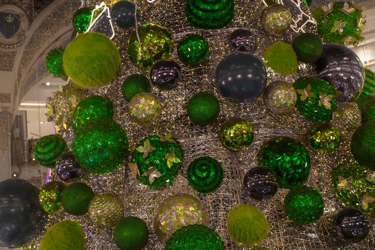 Green Glitter Christmas Decorations