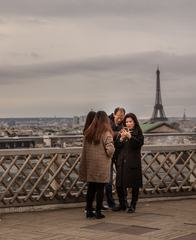 Family on the Roof Galeries Lafayette in Paris
