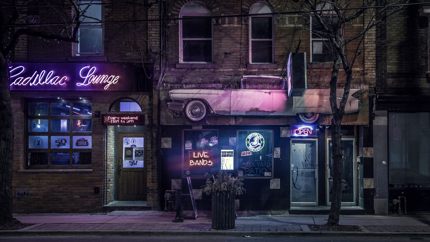 Street at Night, Parkdale, Toronto, Canada