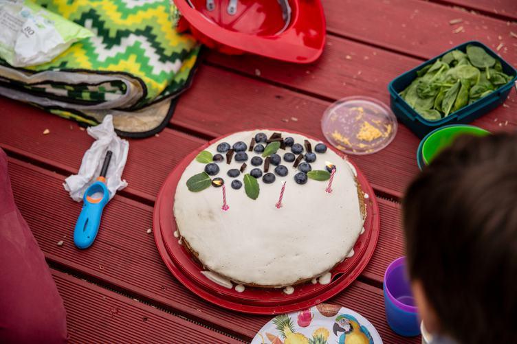 Homemade Cake for Third Birthday