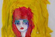 Painted Plasticine Woman Portrait