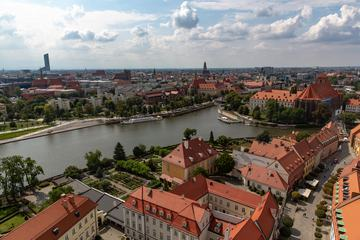 View on Ostrów Tumski in Wroclaw