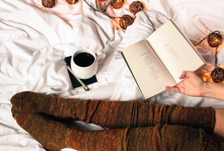 Coffe in Bed Woolen Knee-highs