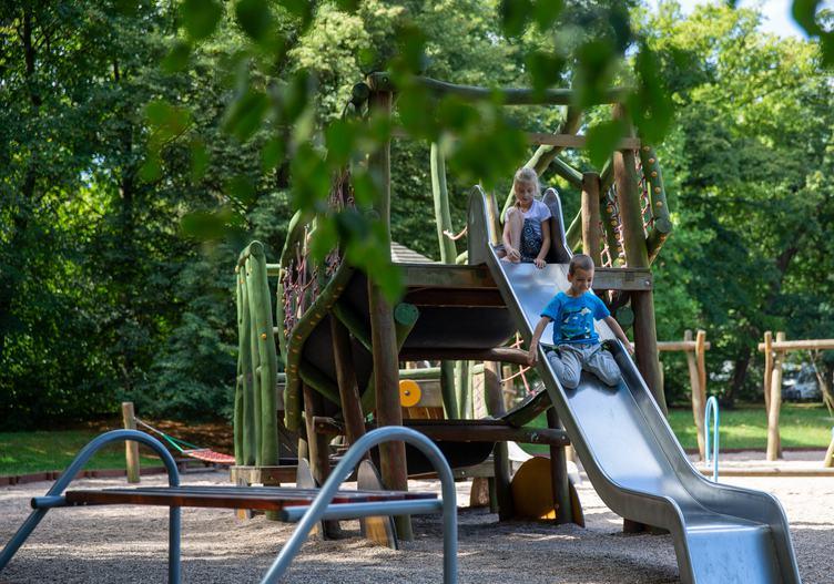 Children on the Slide