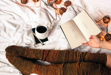 Coffe in Bed Woolen Knee-highs
