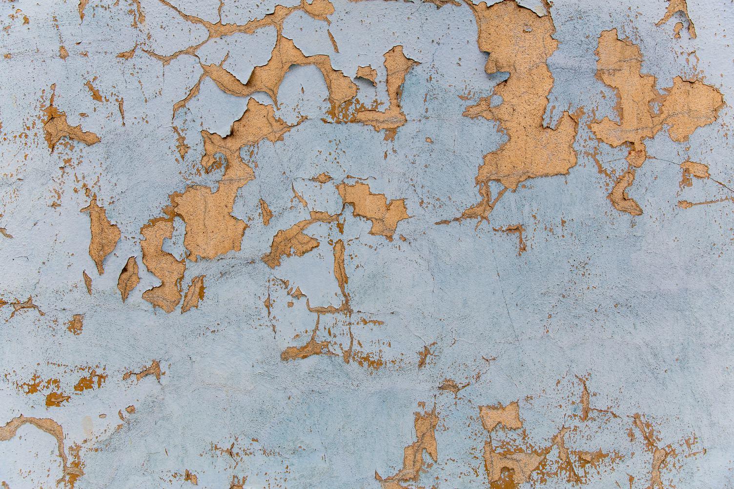 Blue Peeling Wall