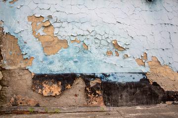 Peeling Grunge Destroyed Wall