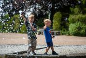 Two Boys at the Fountain