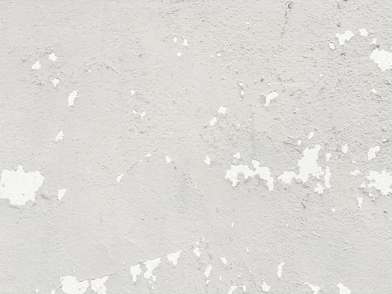 Grunge White Wall with Flaking Paint