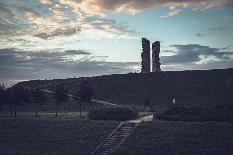 Monument on the hill in Wrocław