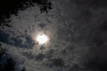 Sun behind the Dark Sky
