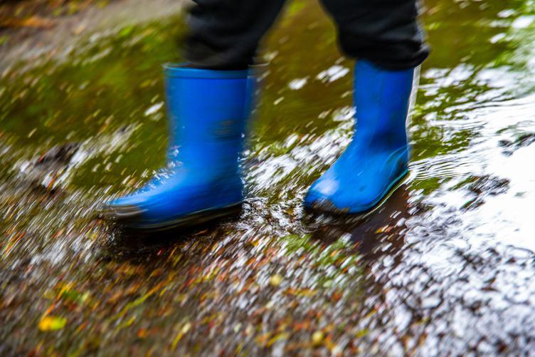 Blue Rubber Boots