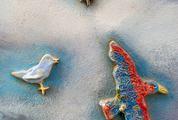 Colorful Ceramic Birds