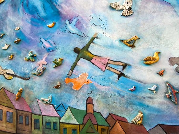 Colorful Wall Inspired by Chagall